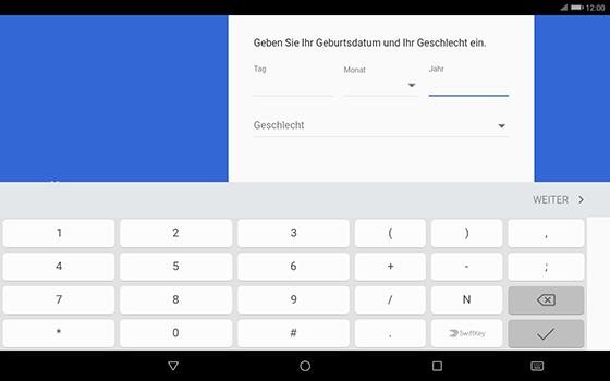 Huawei MediaPad T3 (10.0) LTE - Apps - Konto anlegen und einrichten - 8 / 20