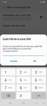 Samsung Galaxy A41 - Sécuriser votre mobile - Personnaliser le code PIN de votre carte SIM - Étape 11