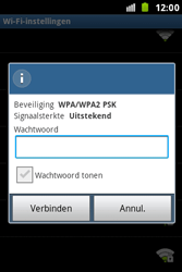 Samsung S7500 Galaxy Ace Plus - Wifi - handmatig instellen - Stap 7