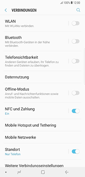 Samsung Galaxy S8 Plus - Android Oreo - Ausland - Auslandskosten vermeiden - Schritt 7