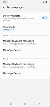 Samsung Galaxy A10 - SMS - Manual configuration - Step 11