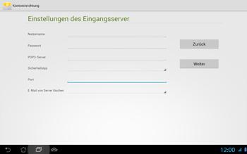 Asus Padfone 2 - E-Mail - Konto einrichten - Schritt 13