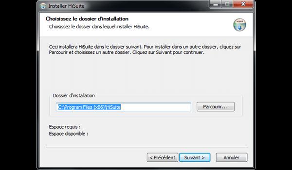 Huawei Mate 9 - Logiciels - Installation du logiciel de synchronisation PC - Étape 7