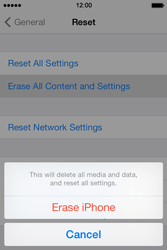 Apple iPhone 4S iOS 7 - Mobile phone - Resetting to factory settings - Step 6