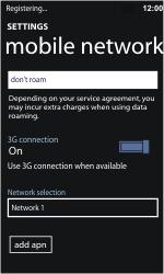 Nokia Lumia 710 - Network - Usage across the border - Step 10