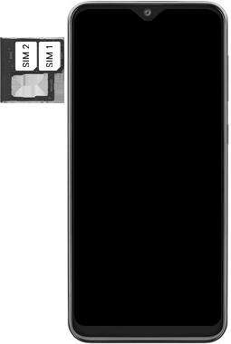 Samsung Galaxy A20e - Toestel - simkaart plaatsen - Stap 5