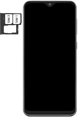 Samsung Galaxy A20e - Premiers pas - Insérer la carte SIM - Étape 5