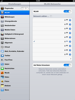 Apple iPad 3 - WLAN - Manuelle Konfiguration - 0 / 0