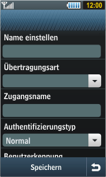 Samsung Jet - Internet - Manuelle Konfiguration - 0 / 0