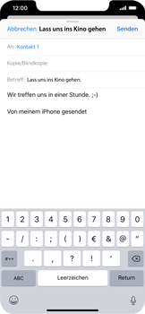 Apple iPhone XS Max - E-Mail - E-Mail versenden - 8 / 16