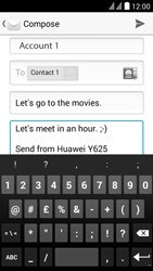 Huawei Y625 - E-mail - Sending emails - Step 10