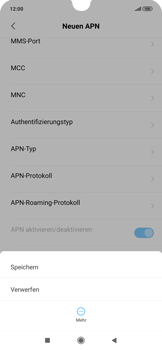 Xiaomi RedMi Note 7 - MMS - Manuelle Konfiguration - Schritt 13