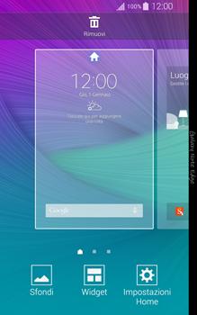 Samsung Galaxy Note Edge - Operazioni iniziali - Installazione di widget e applicazioni nella schermata iniziale - Fase 3