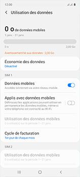 Samsung Galaxy A51 - Internet et roaming de données - Comment vérifier que la connexion des données est activée - Étape 7
