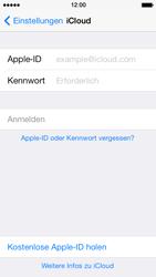 Apple iPhone 5 iOS 7 - Apps - Konfigurieren des Apple iCloud-Dienstes - Schritt 4