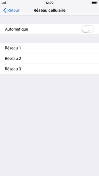Apple iPhone 7 Plus - iOS 12 - Réseau - Sélection manuelle du réseau - Étape 6