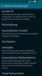 Samsung Galaxy Alpha - Anrufe - Rufumleitungen setzen und löschen - 6 / 11