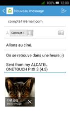 Alcatel OT-4027X Pixi 3 (4.5) - E-mail - envoi d