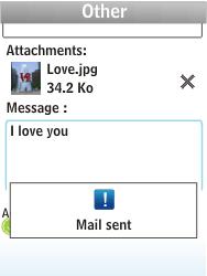 Nokia X3-02 - E-mail - Sending emails - Step 14