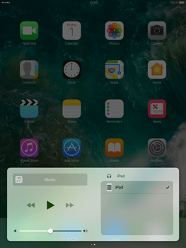 Apple iPad Mini 3 iOS 10 - iOS features - Control Centre - Step 10