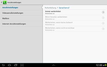 Samsung Galaxy Note 10-1 - Anrufe - Rufumleitungen setzen und löschen - 10 / 11