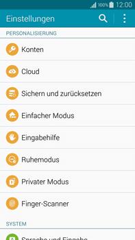 Samsung Galaxy Note 4 - Fehlerbehebung - Handy zurücksetzen - 2 / 2