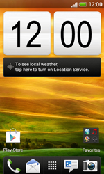 HTC Desire X - Getting started - Installing widgets and applications on your start screen - Step 1