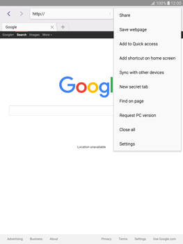 Samsung T815 Galaxy Tab S2 9.7 - Internet - Internet browsing - Step 13