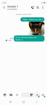 Samsung Galaxy S20 FE - Contact, Appels, SMS/MMS - Envoyer un MMS - Étape 22