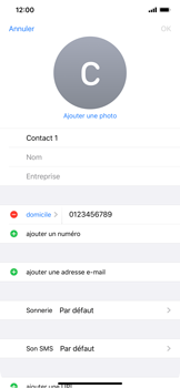 Apple iPhone 11 - Contact, Appels, SMS/MMS - Ajouter un contact - Étape 9