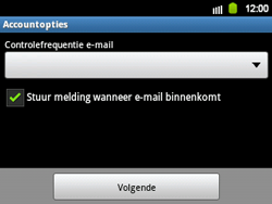 Samsung B5510 Galaxy TXT - E-mail - Handmatig instellen - Stap 13