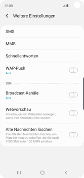 Samsung Galaxy S10e - SMS - Manuelle Konfiguration - Schritt 8