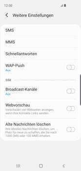 Samsung Galaxy S10e - SMS - Manuelle Konfiguration - 8 / 12