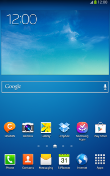 Samsung Galaxy Tab 3 8-0 LTE - Getting started - Installing widgets and applications on your start screen - Step 1
