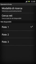 Sony Xperia J - Rete - Selezione manuale della rete - Fase 10