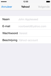 Apple iPhone 4S iOS 8 - E-mail - handmatig instellen (yahoo) - Stap 6
