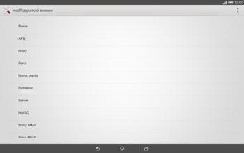 Sony Xperia Tablet Z2 LTE - Internet e roaming dati - Configurazione manuale - Fase 10