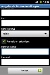 Samsung S5830i Galaxy Ace i - E-Mail - Konto einrichten - Schritt 13