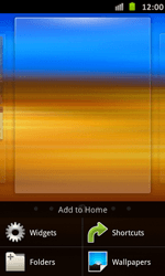 Samsung Galaxy S Advance - Getting started - Installing widgets and applications on your start screen - Step 3