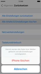 Apple iPhone SE - iOS 10 - Fehlerbehebung - Handy zurücksetzen - Schritt 8