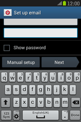 Samsung S6310 Galaxy Young - E-mail - Manual configuration - Step 6