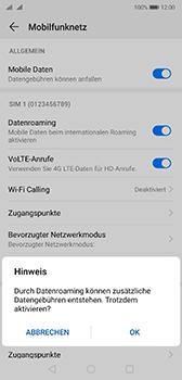Huawei P20 - Android Pie - Ausland - Im Ausland surfen – Datenroaming - Schritt 8