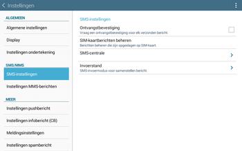 Samsung T535 Galaxy Tab 4 10-1 - SMS - SMS-centrale instellen - Stap 7