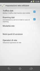 Sony Xperia Z1 - Internet e roaming dati - Disattivazione del roaming dati - Fase 6
