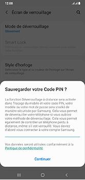 Samsung Galaxy A10 - Sécurité - activéz le code PIN de l'appareil - Étape 12