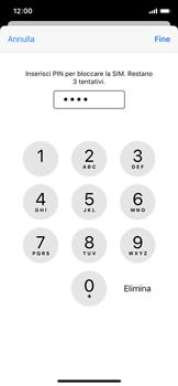Apple iPhone XS - iOS 13 - Operazioni iniziali - Come abilitare il pin della SIM - Fase 7