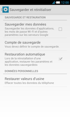 Alcatel One Touch Idol S - Téléphone mobile - Réinitialisation de la configuration d