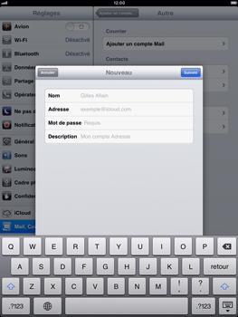 Apple iPad Retina - E-mail - Configuration manuelle - Étape 13
