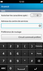 BlackBerry Z10 - SMS - configuration manuelle - Étape 8