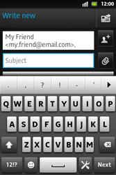 Sony ST27i Xperia Go - E-mail - Sending emails - Step 7